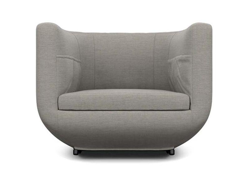 Having a Ball Chair , Zest Steel (D1053), strie texture , large_gray