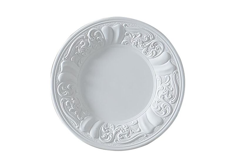 White Embossed Wall Plate