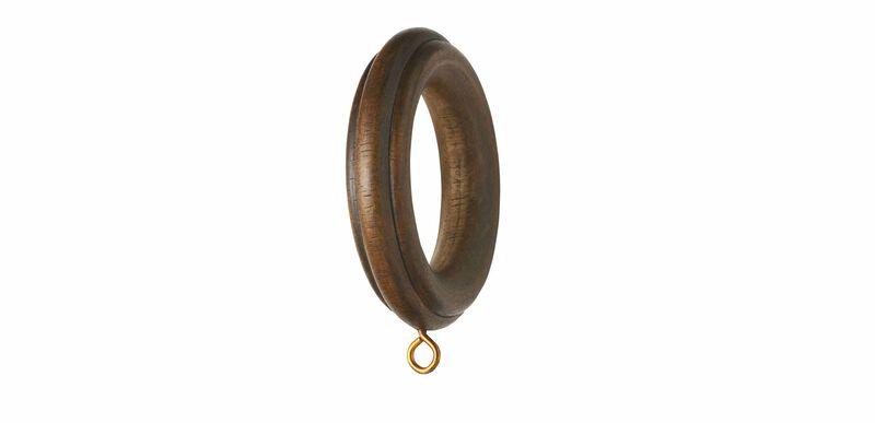 "1 3/8"" Wood Drapery Ring, Set of 7"