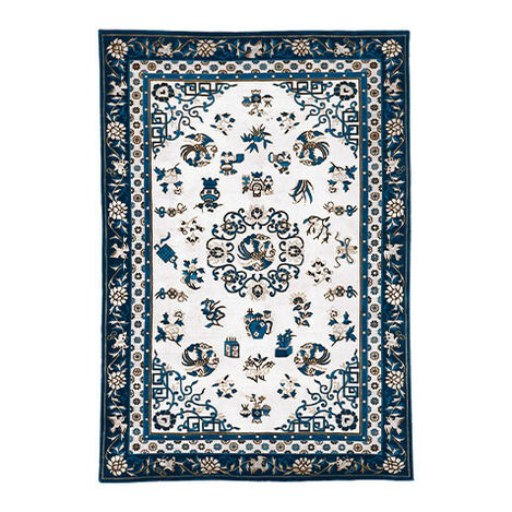 Chinese Medallion Rug, Ivory/Blue Product Tile Image 041428L