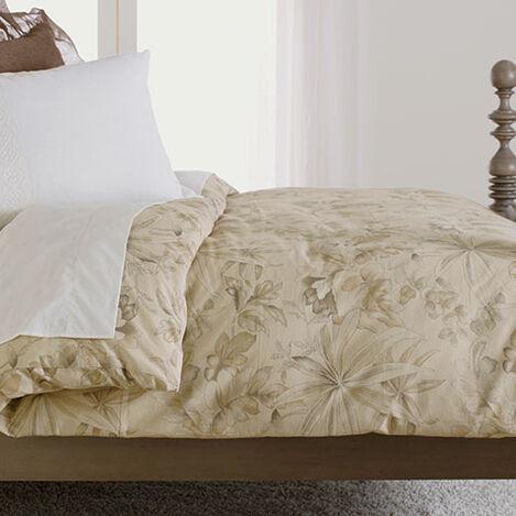 Solange Taupe Floral Duvet Cover ,  , large