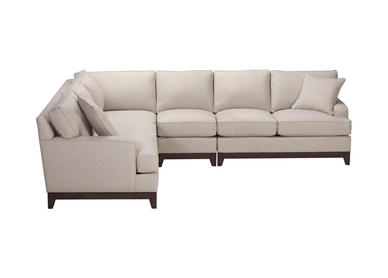 Arcata Four Piece Sectional, Quick Ship , Hailey Natural (Q1031), solid texture , large_gray