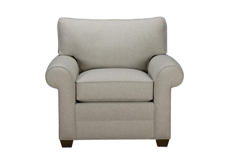 Bennett Roll-Arm Chair, Quick Ship , Hailey Slate (Q1054), solid texture , large_gray