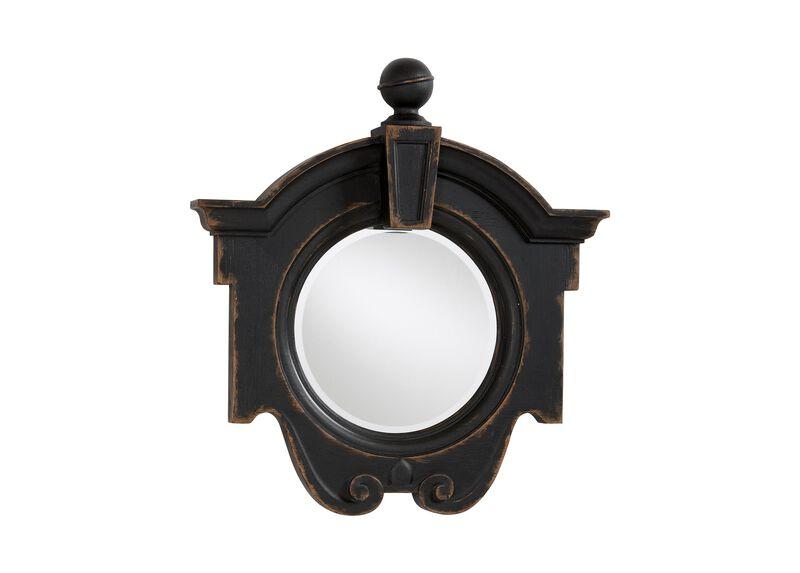 Antique Black Gisele Mirror ,  , large_gray