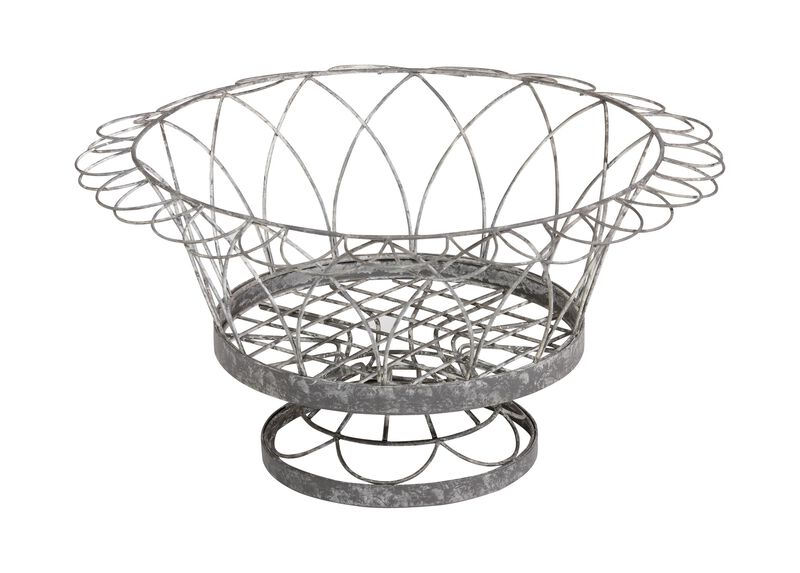 French Wire Round Planter ,  , large_gray