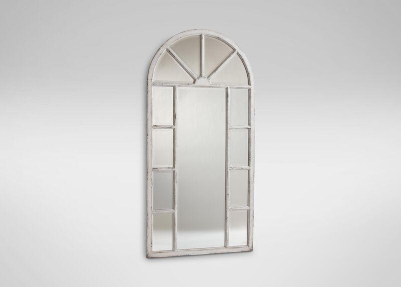 Antique White Cypress Floor Mirror ,  , large_gray