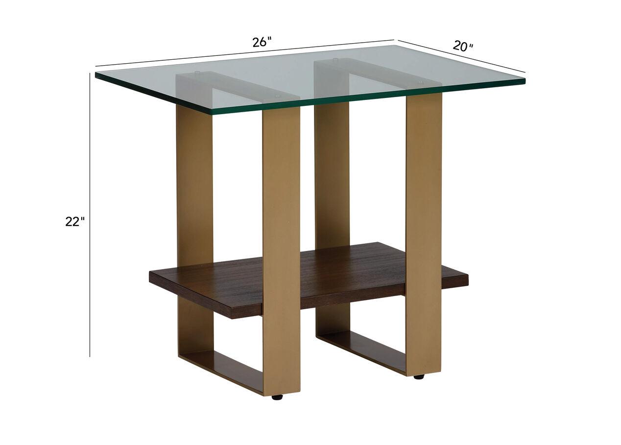 Rosemoor Contemporary Glass Top End Table Ethan Allen