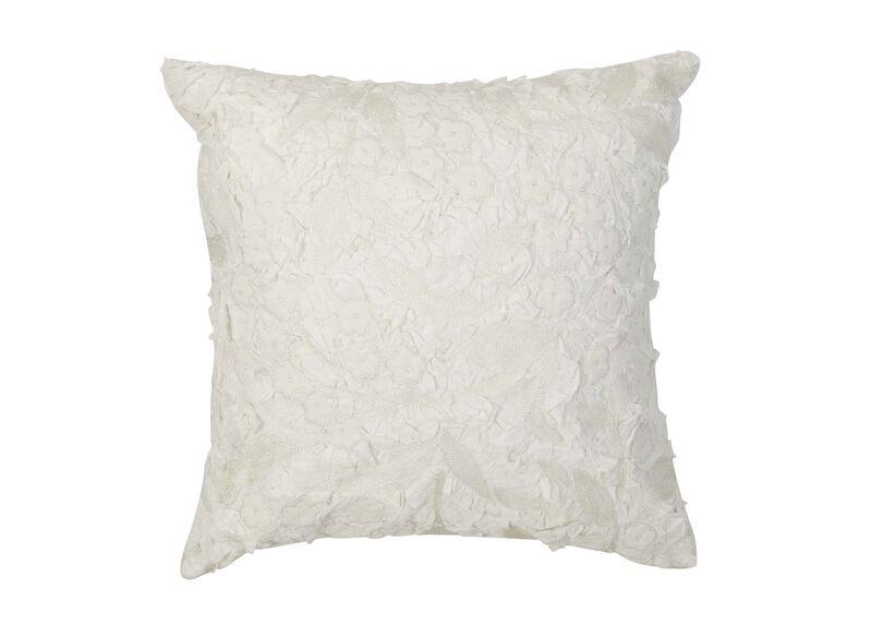 Embellished Floral Pillow