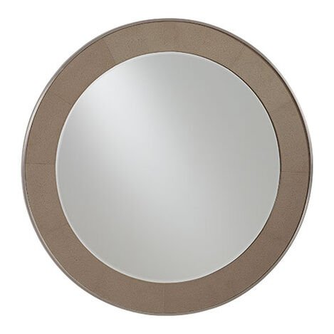 Rissa Round Leather Mirror Product Tile Image 074086
