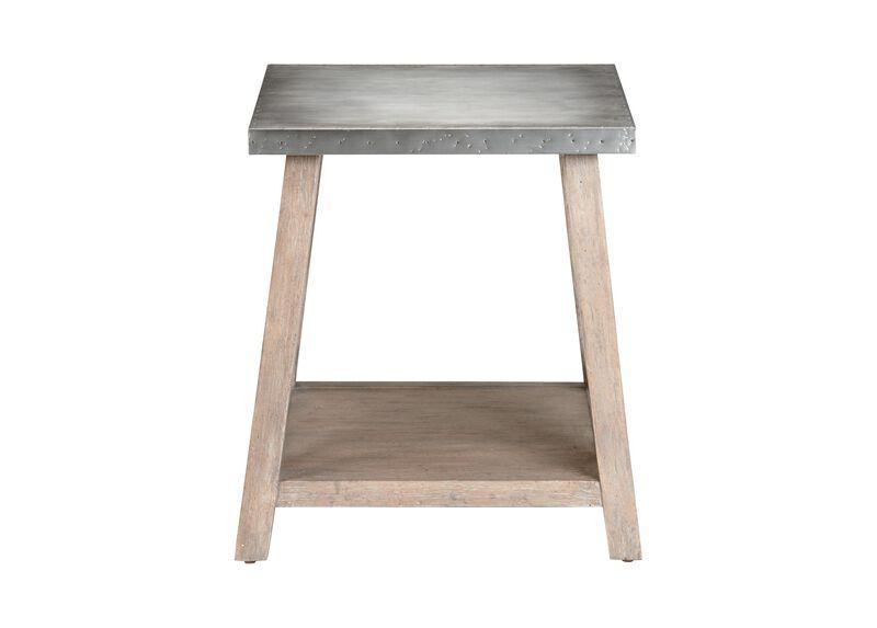 Bruckner Metal-Top End Table