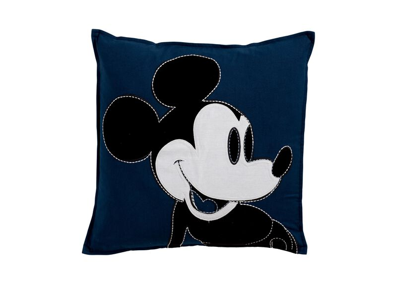Color Block Mickey Mouse Pillow