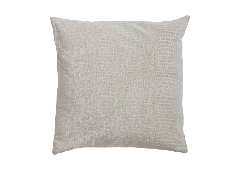 Embossed Velvet Pillow, Taupe