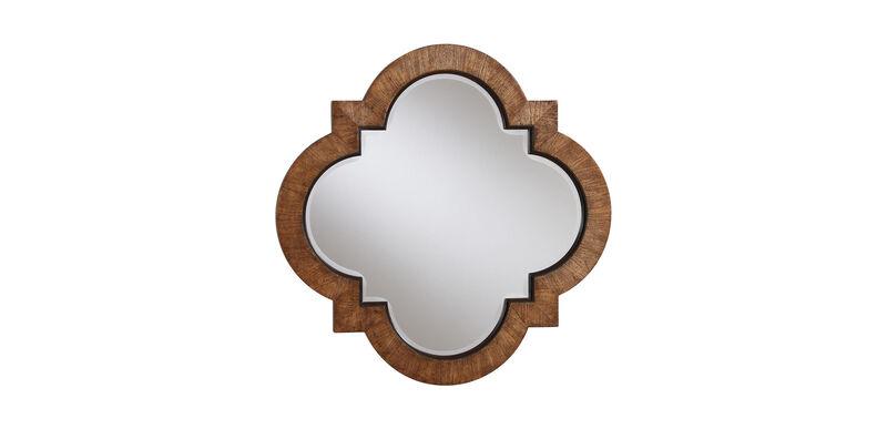 Light Quatrefoil Mirror