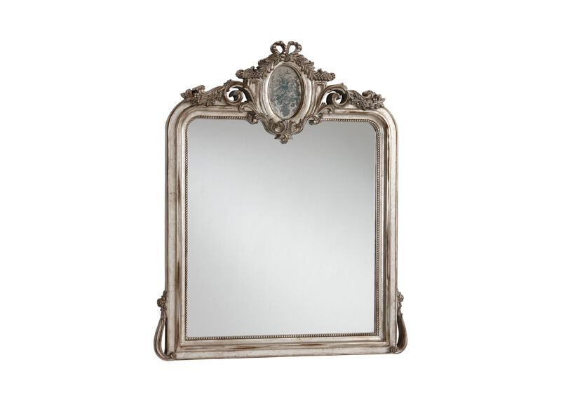 Aged Silver Provincial Mirror ,  , large_gray