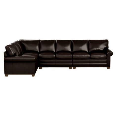 Bennett Roll-Arm Large Leather Four-Piece Sectional Product Tile Image 727888G5