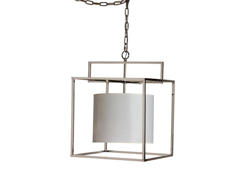 Modern Cage Nickel Chandelier
