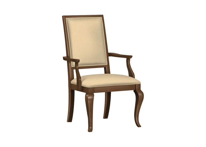 Hayden Cabriole-Leg Leather Armchair ,  , large_gray