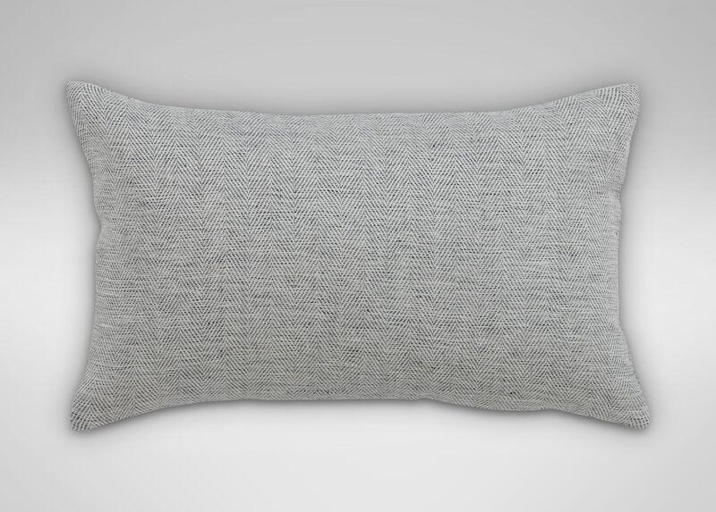 "Linen Herringbone Pillow 12"" x 20"" ,  , large_gray"