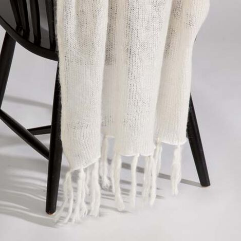 Ivory Mohair Throw ,  , large