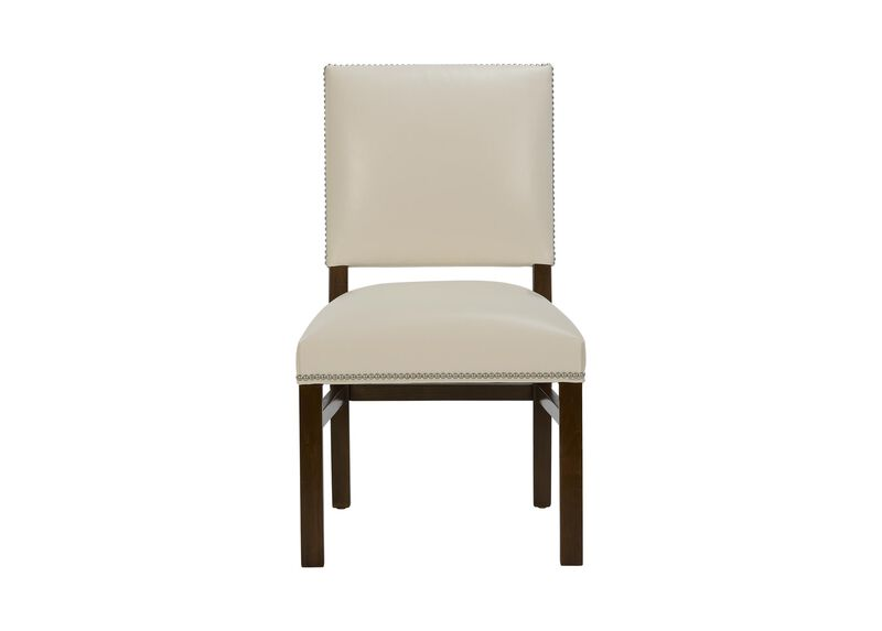 Loden Leather Side Chair