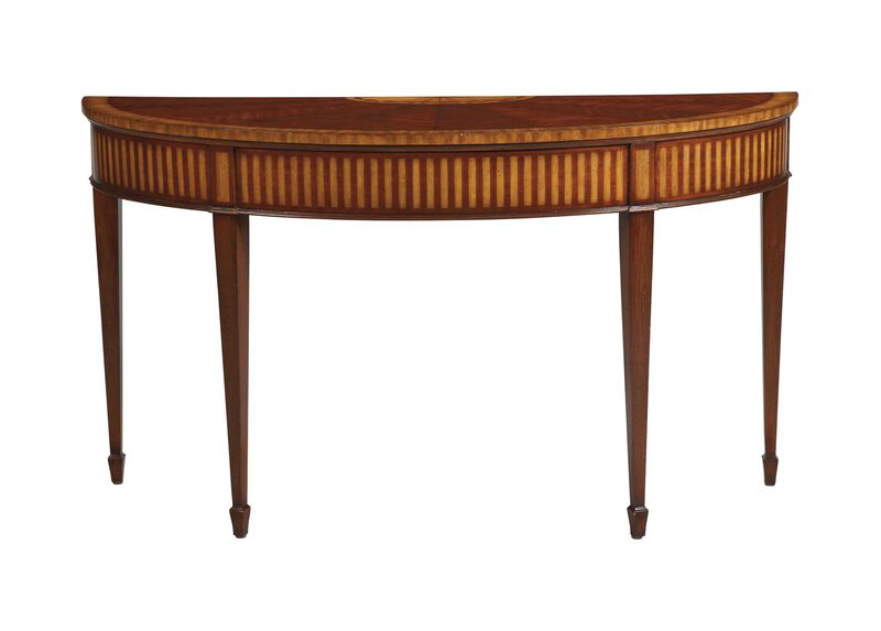 Newman Demilune Sofa Table ,  , large_gray