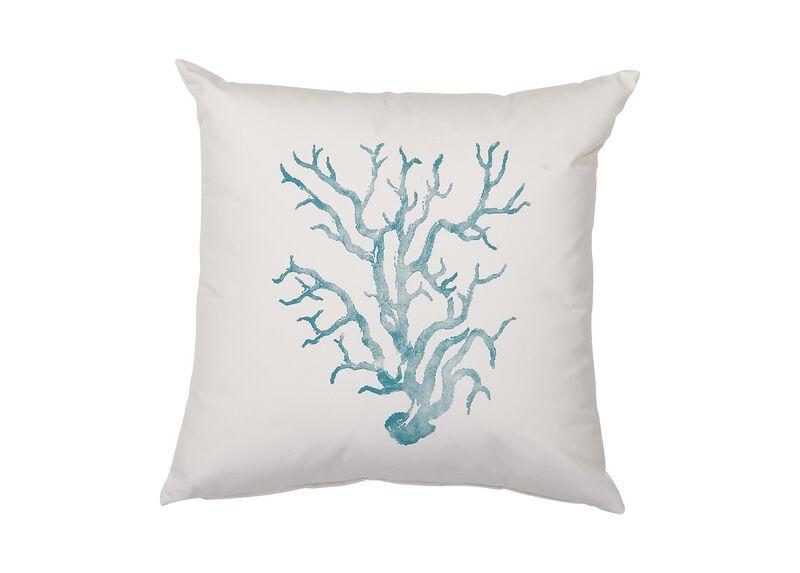 Aqua Coral Outdoor Pillow