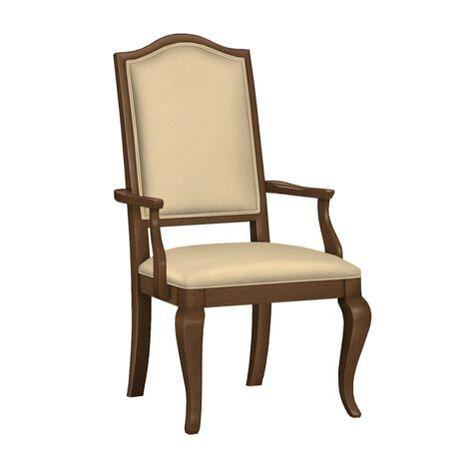 Hayden Cabriole-Leg Leather Armchair ,  , large