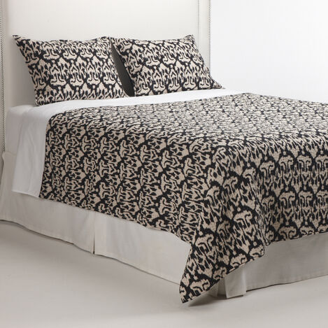 Venya Black Kantha Quilt ,  , large