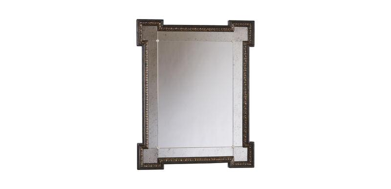 Black Crackle Turret Mirror