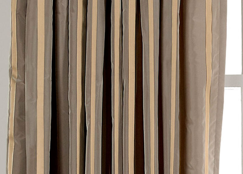 Titanium Taffeta Stripe Fabric by the Yard ,  , large_gray