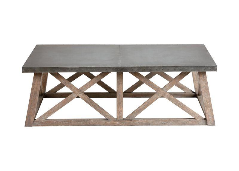 Bruckner Metal-Top  Coffee Table