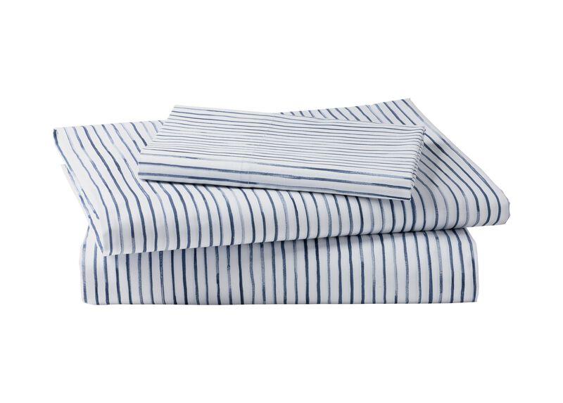 Paint Stripe Sheet Set, Midnight