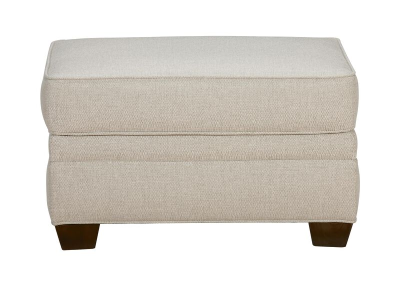 Bennett Ottoman, Quick Ship , Hailey Natural (Q1031), solid texture , large_gray