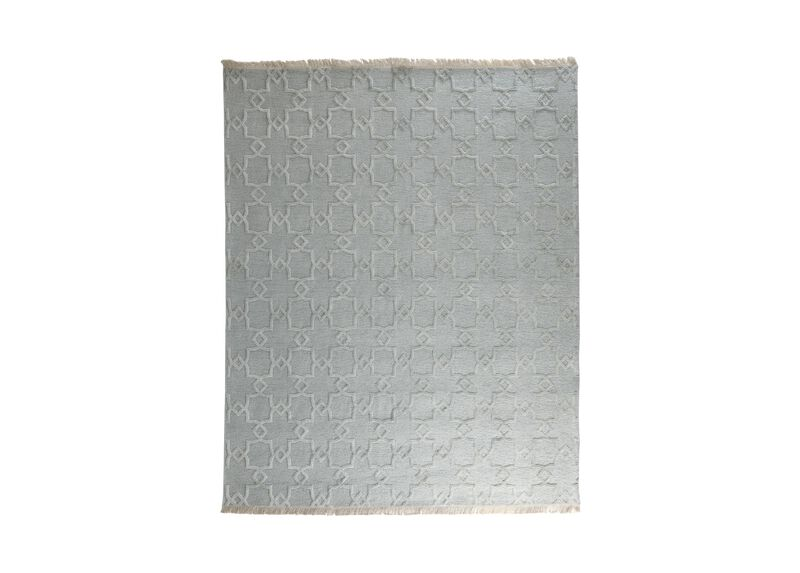 Lattice Soumak Rug, Seafoam ,  , large_gray