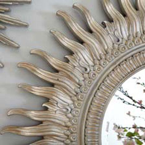 """43"""" Silver Sunburst Mirror ,  , hover_image"""