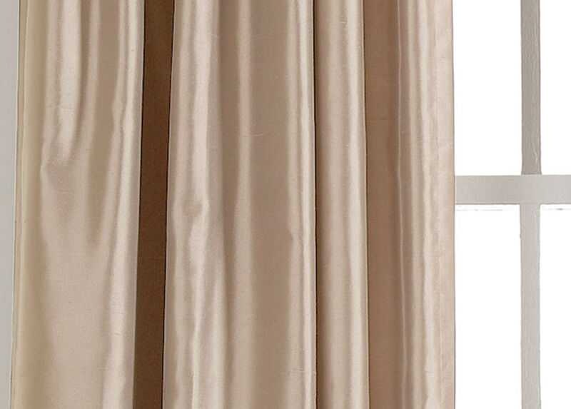 Ivory Satin Dupioni Fabric by the Yard