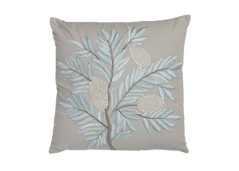 French Knot Floral Pillow | Tuggl