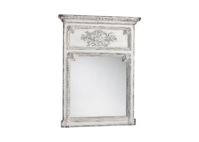 Antique White Madeleine Trumeau Wall Mirror ,  , large_gray