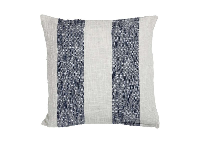 Navy Striped Pillow | Tuggl