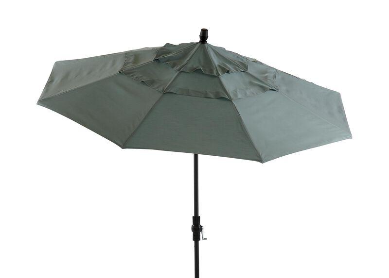 Spa Blue Round Market Umbrella