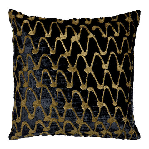 ripple pillow navygold large
