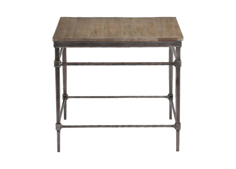 Vida Wood-Top End Table