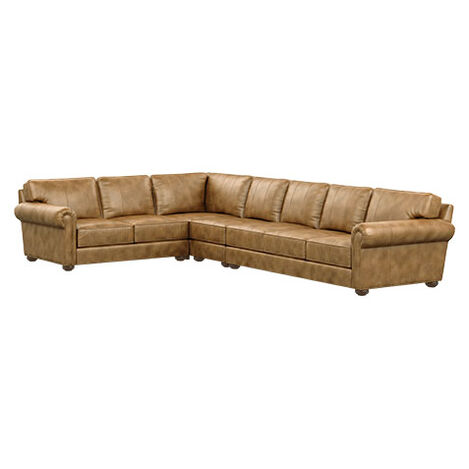 Richmond Four-Piece Leather Sectional with Three Seat Sofa Product Tile Image 727235G5