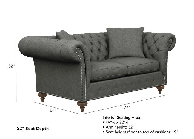Marvelous Mansfield Sofa 22 Seat Depth Sofas Loveseats Ethan Allen Spiritservingveterans Wood Chair Design Ideas Spiritservingveteransorg