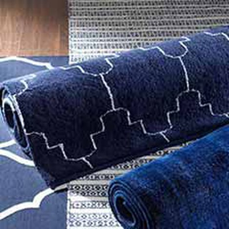 Tulu Tracery Rug, Blue/Natural ,  , hover_image