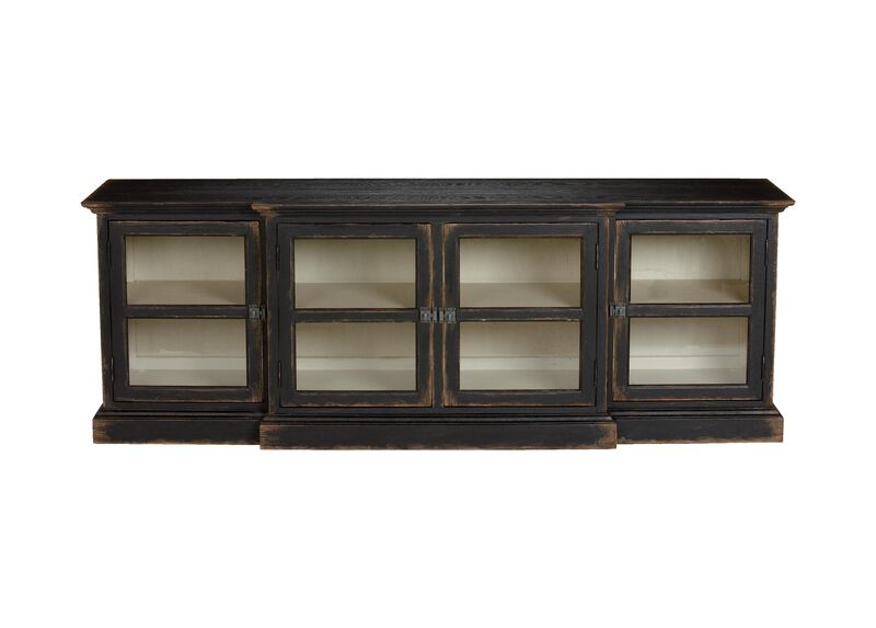 Farragut Media Cabinet, Rustic Black with White Interior ,  , large_gray