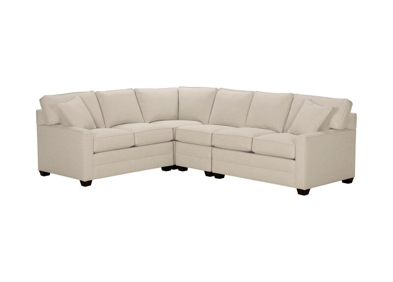 Bennett Track-Arm Four Piece Sectional, Quick Ship , Hailey Natural (Q1031), solid texture , large_gray