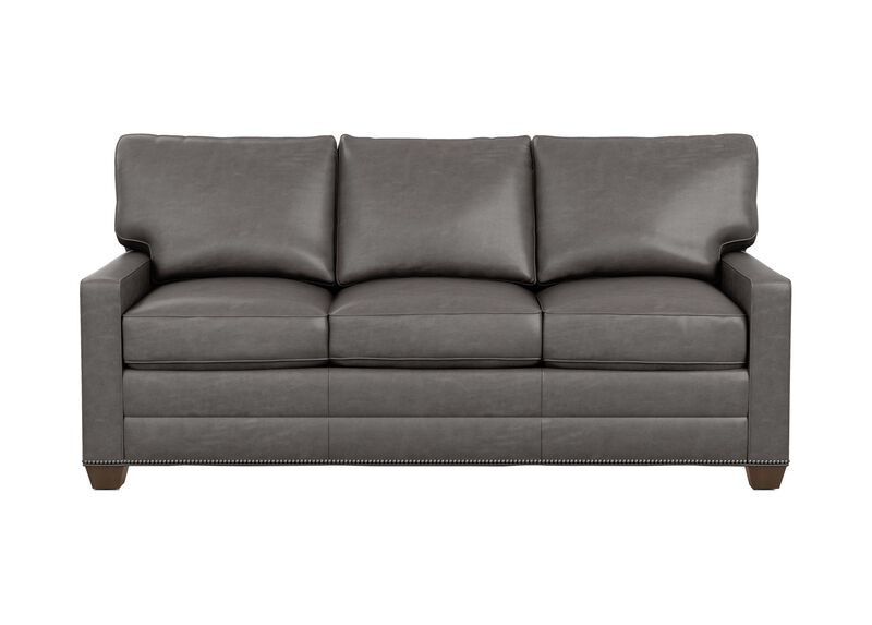 Bennett Track-Arm Leather Three Seat Sofa