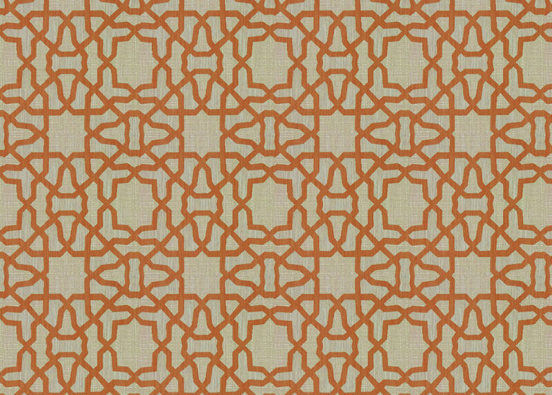 Mazy Copper Fabric by the Yard