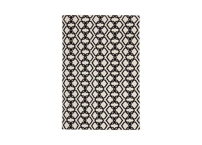 Interlock Rug, Ivory/Black ,  , large_gray